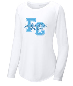 Long Sleeve Tri-Blend Scoop Neck Raglan Tee / White / FC Dance - Fidgety