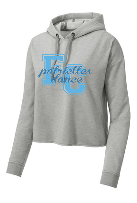 Tri-Blend Wicking Fleece Crop Hooded Pullover / Heather Gray / FC Dance - Fidgety