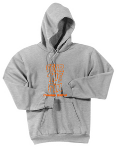 Fear The Fin Fleece Hooded Sweatshirt / Ash Gray / Lynnhaven Middle