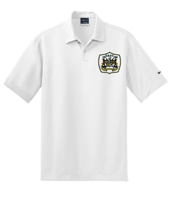 Nike Dri-FIT Pebble Texture Polo / White / Great Bridge Soccer