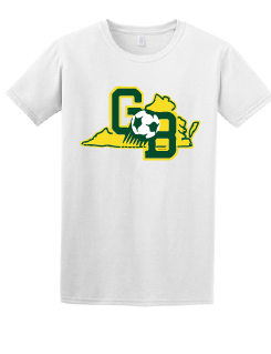 Softstyle Cotton T-Shirt / White / Great Bridge High School Soccer
