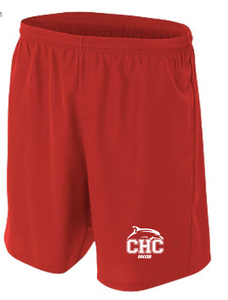 "7"" Men's Soccer Short / Red / Cape Henry Soccer - Fidgety"