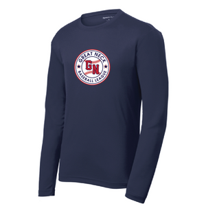 PosiCharge RacerMesh Long Sleeve Tee / Navy / Great Neck Baseball