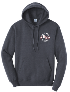 Core Fleece Pullover Hooded Sweatshirt / 2 colors / Great Neck Baseball