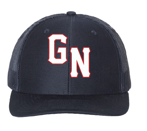Adjustable Snapback Trucker Cap / Navy / Great Neck Baseball