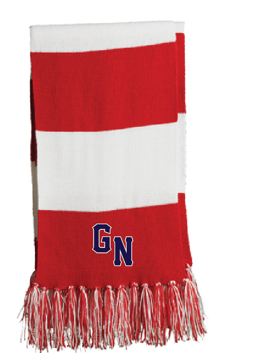 Spectator Scarf / Red & White / Great Neck Baseball