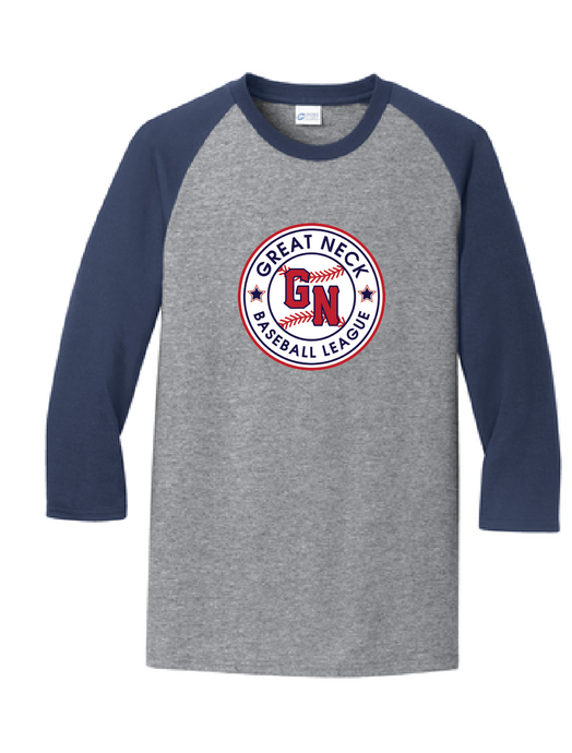 Unisex Perfect Tri 3/4-Sleeve Raglan / Navy & Grey Frost / Great Neck Baseball