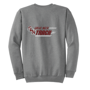 Crew Neck Sweatshirt / Gray / Great Neck Track - Fidgety