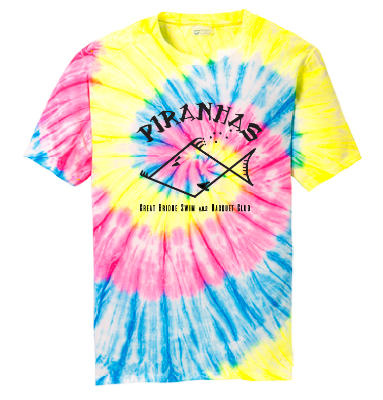 Tie Die Short Sleeve T-Shirt / Adult / Piranhas - Fidgety