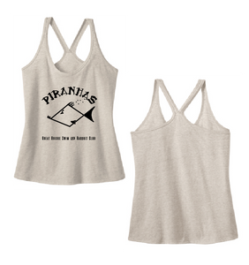 Juniors Tri-Blend Tank Top / Natural / Piranhas - Fidgety