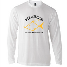 Youth Long Sleeve T-Shirt / White / Piranhas - Fidgety
