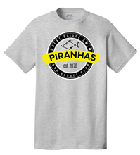 Anniversary Short Sleeve T-Shirt / Gray / Youth / Piranhas - Fidgety