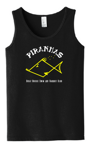 Youth Tank Top / Black / Piranhas - Fidgety