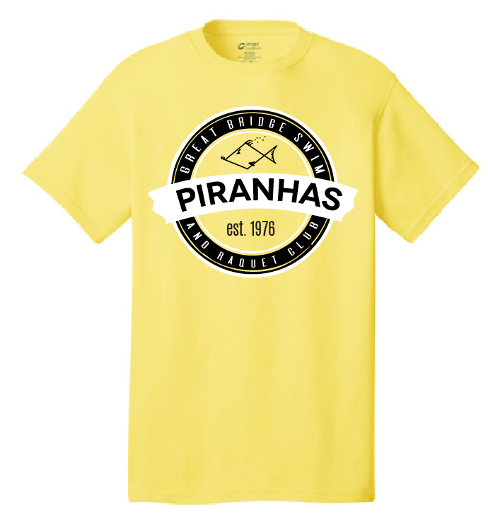 Anniversary Short Sleeve T-Shirt / Yellow / Youth / Piranhas - Fidgety