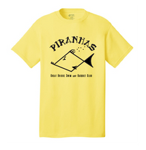 Youth Short Sleeve T-Shirt / Yellow / Piranhas - Fidgety