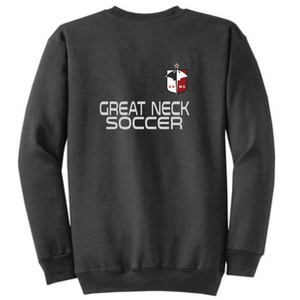 Crewneck Fleece Sweatshirt / Dark Heather Gray / Great Neck Soccer - Fidgety
