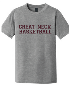 Softstyle Short Sleeve T-Shirt (Youth & Adult) / Heather Grey / Great Neck Basketball