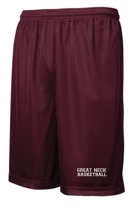 Classic Mesh Basketball Shorts (Youth & Adult) / Maroon / Great Neck Basketball