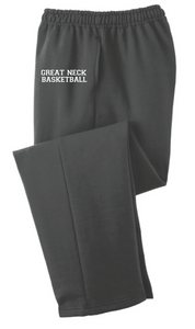 Core Fleece Sweatpants w/Pockets (Youth & Adult) / Charcoal / Great Neck Basketball