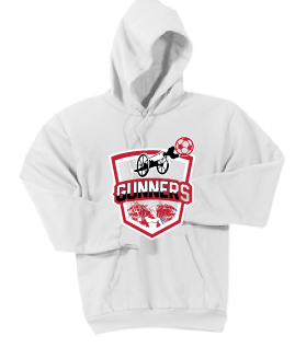 Core Fleece Hooded Sweatshirt / White / Gunners - Fidgety