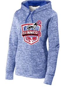 Ladies PosiCharge Fleece Hooded Sweatshirt / True Royal Electric / Gunners - Fidgety