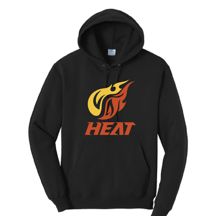 Heat Fleece Hooded Sweatshirt (Youth & Adult) / Jet Black / Heat Baseball