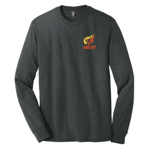 Heat LC Triblend Long Sleeve Tee/ Black / Heat Baseball