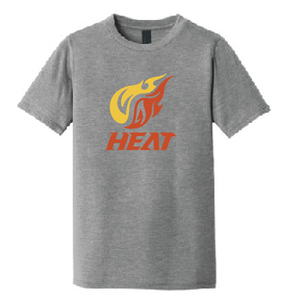 Heat Baseball Softstyle Crew T-Shirt (Youth & Adult) / Athletic Heather / Heat Baseball