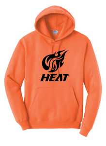 Fire Fleece Hooded Sweatshirt (Youth & Adult) / Neon Orange / Heat Baseball