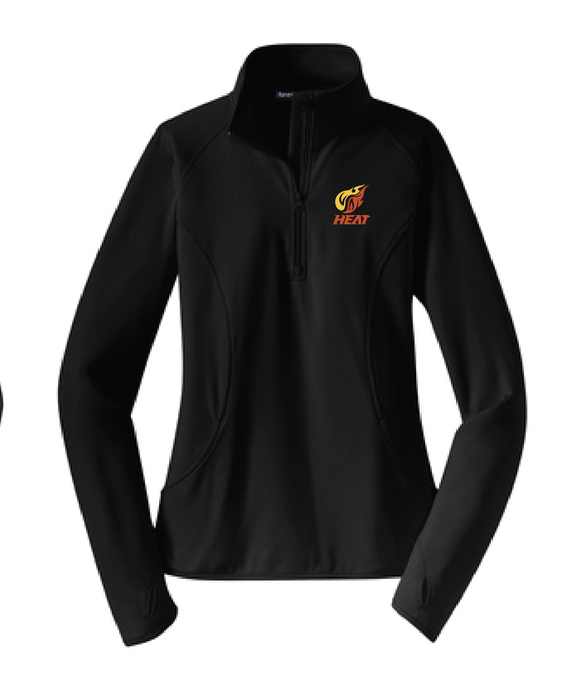 Ladies Sport-Wick Stretch 1/2-Zip Pullover / Black / Heat