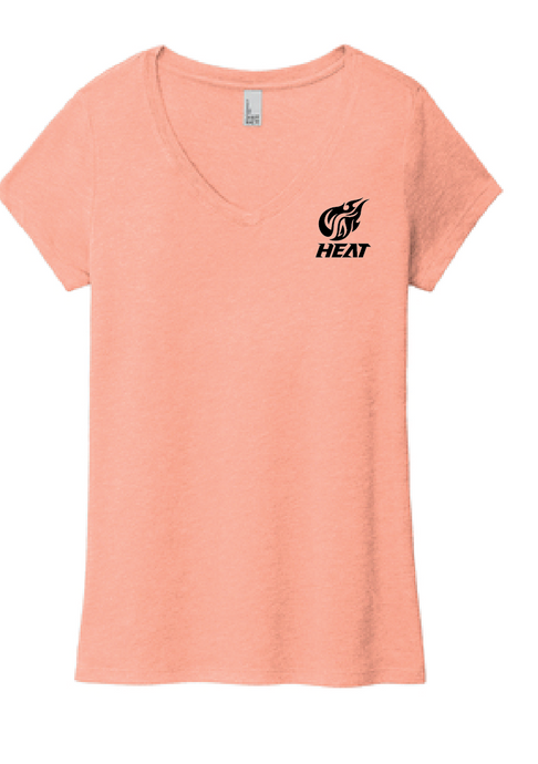V-Neck - Women's Perfect Triblend Tee / Heathered Dusty Peach / Southside Crew