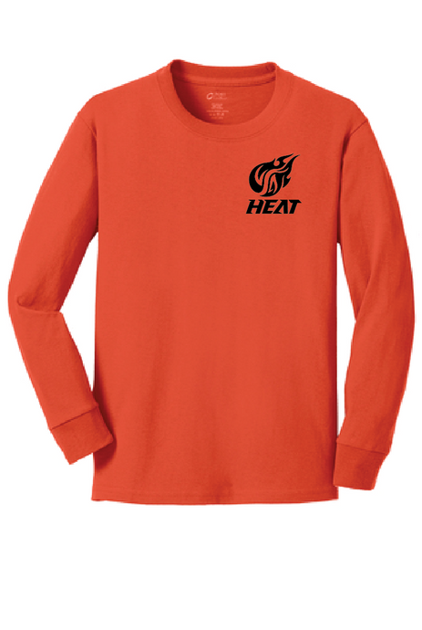 Long Sleeve Softstyle T-Shirt (Youth & Adult) / Orange / Heat Baseball