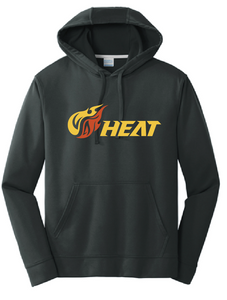 Heat Performance Fleece Pullover Hooded Sweatshirt (Youth & Adult) / Jet Black / Heat Baseball