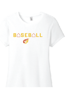 Baseball Women's Perfect TriBlend Tee / White / Heat Baseball