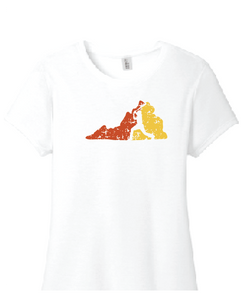 Virginia Women's Perfect TriBlend Tee / White / Heat Baseball
