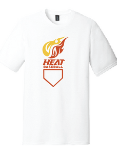 Heat Baseball Softstyle Crew T-Shirt (Youth & Adult) / White / Heat Baseball