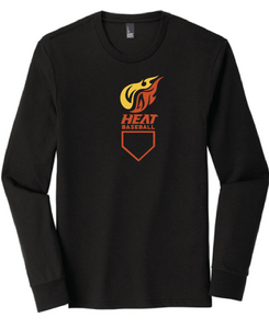 Heat Triblend Long Sleeve Tee/ Black / Heat Baseball