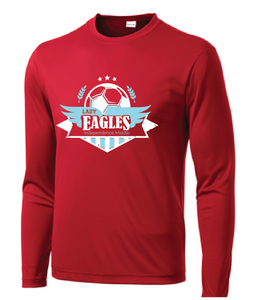 Lady Eagles Long Sleeve Performance T-Shirt / Red / Independence Soccer - Fidgety