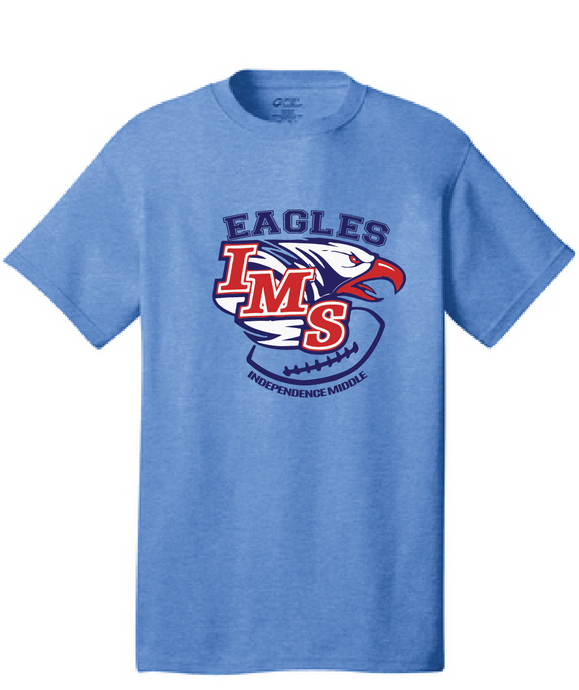 IMS Eagles Short Sleeve T-Shirt / Heather Gray / Independence Football - Fidgety