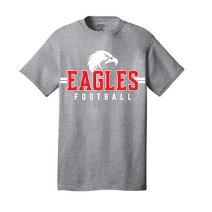 Short Sleeve Cotton T-Shirt (Youth & Adult) / Graphite Heather Gray / Independence Football - Fidgety