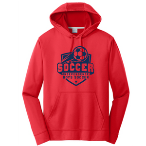 Performance Fleece Pullover Hooded Sweatshirt / Red / Independence Soccer - Fidgety