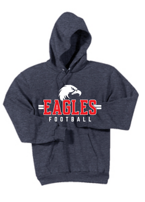 Fleece Hooded Sweatshirt / Heather Navy / Independence Football - Fidgety