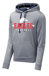 Sport-Wick Heather Fleece Hooded Sweatshirt / Heather Navy / Independence Football - Fidgety