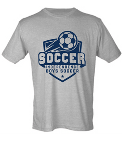 Tirblend Short Sleeve T-Shirt / Gray / Independence Boys Soccer - Fidgety