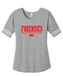 Scorecard T-Shirt / Heather Grey & White / IMS Forensics - Fidgety