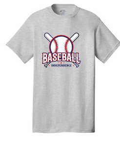 Cotton T-Shirt / Ash Gray / IMS Baseball - Fidgety