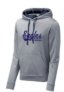 Sport-Wick Heather Fleece Hooded Sweatshirt / Heather Navy / IMS Baseball - Fidgety