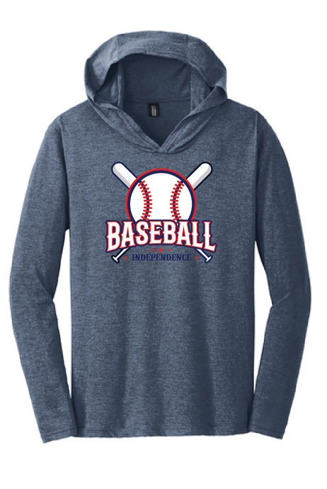 Long Sleeve T-Shirt Hoody / Navy Frost / IMS Baseball - Fidgety