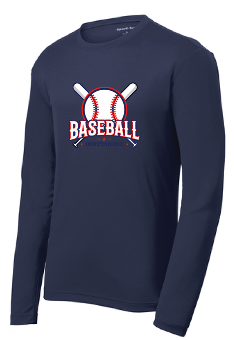Long Sleeve Performance Tee / Navy / IMS Baseball - Fidgety