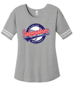 Scorecard T-Shirt / Heather Grey & White / IMS Softball - Fidgety